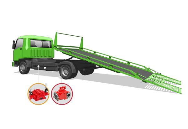 tow truck labelled diagram