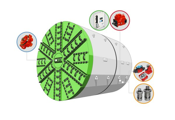 tunnel boring machines digram labelled